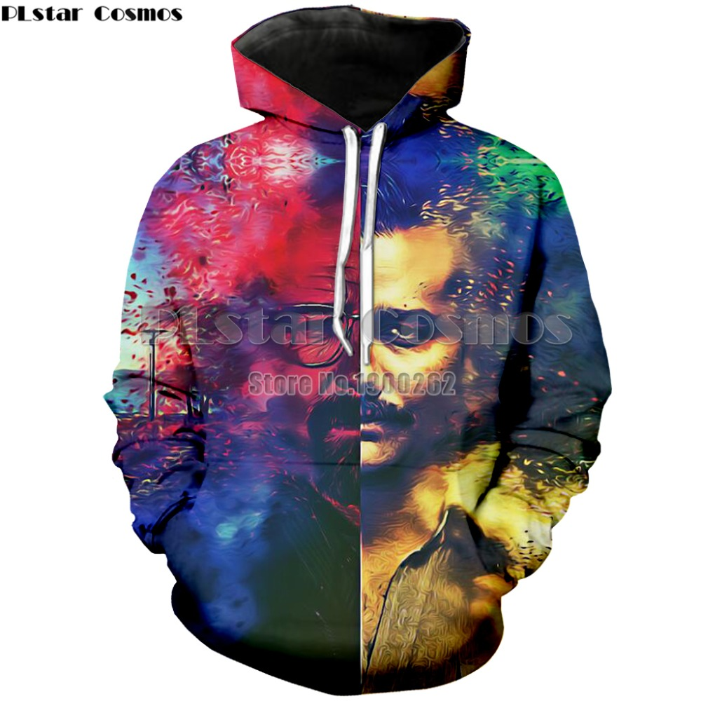 PLstar Cosmos Narcos Pablo Escobar Narcos Mauvaises Herbes Mafia Scareface LucianoHoodies de Sweat Hommes/femmes Manches Longues 3d Imprimer