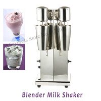 Electric double heads milk shake blender with speed regulator and stainless steel cup milk shaker machine