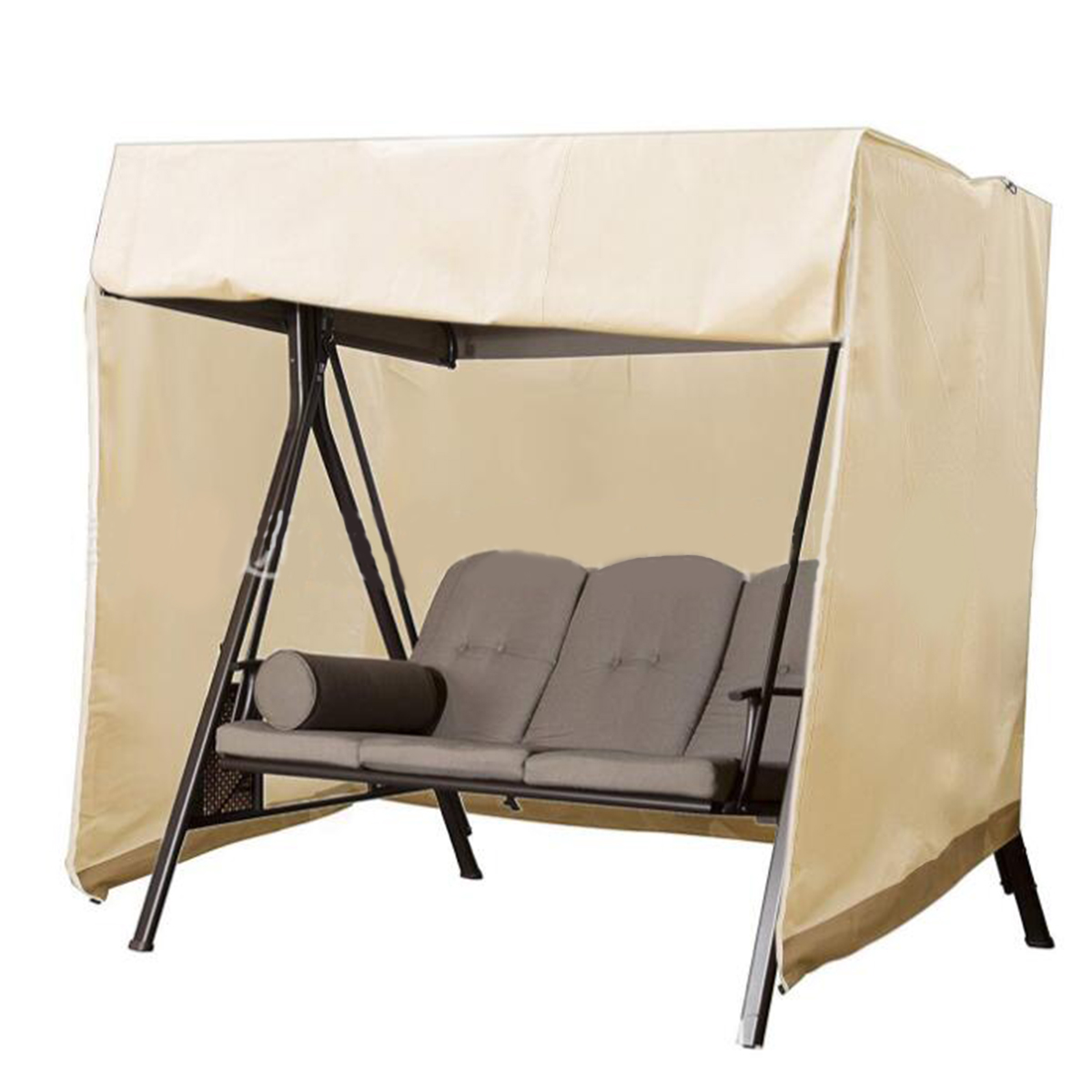 Heavy Duty 3 Seater Swing Waterproof Cover Garden Patio Hammock Chair Outdoor Furniture UV Rain Dust Protector(China)