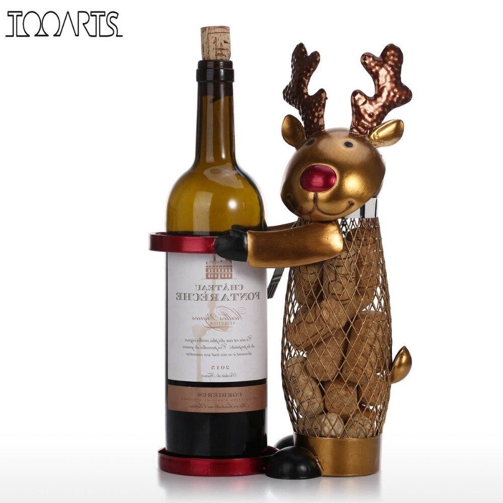 Tooarts Netted Christmas Elk Wine Rack Animal Wine Holder