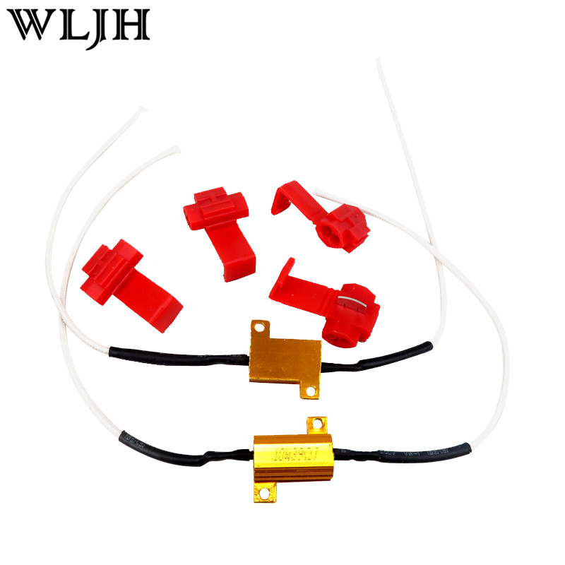 WLJH 2 stks 10 w 39 Ohm LED CANBUS GEEN FOUT LADINGSWEERSTAND 4 w 5 w 6 w W5W T10 T4W BA9S H6W BAX9S FESTOON Universeel