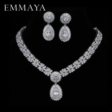EMMAYA New Luxury 2017 Nigerian Wedding Accessories African CZ Beads Jewelry Sets Crystal Bridal Necklace For Brides(China)