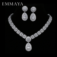 EMMAYA New Luxury 2017 Nigerian Wedding Accessories African CZ Beads Jewelry Sets Crystal Bridal Necklace For Brides