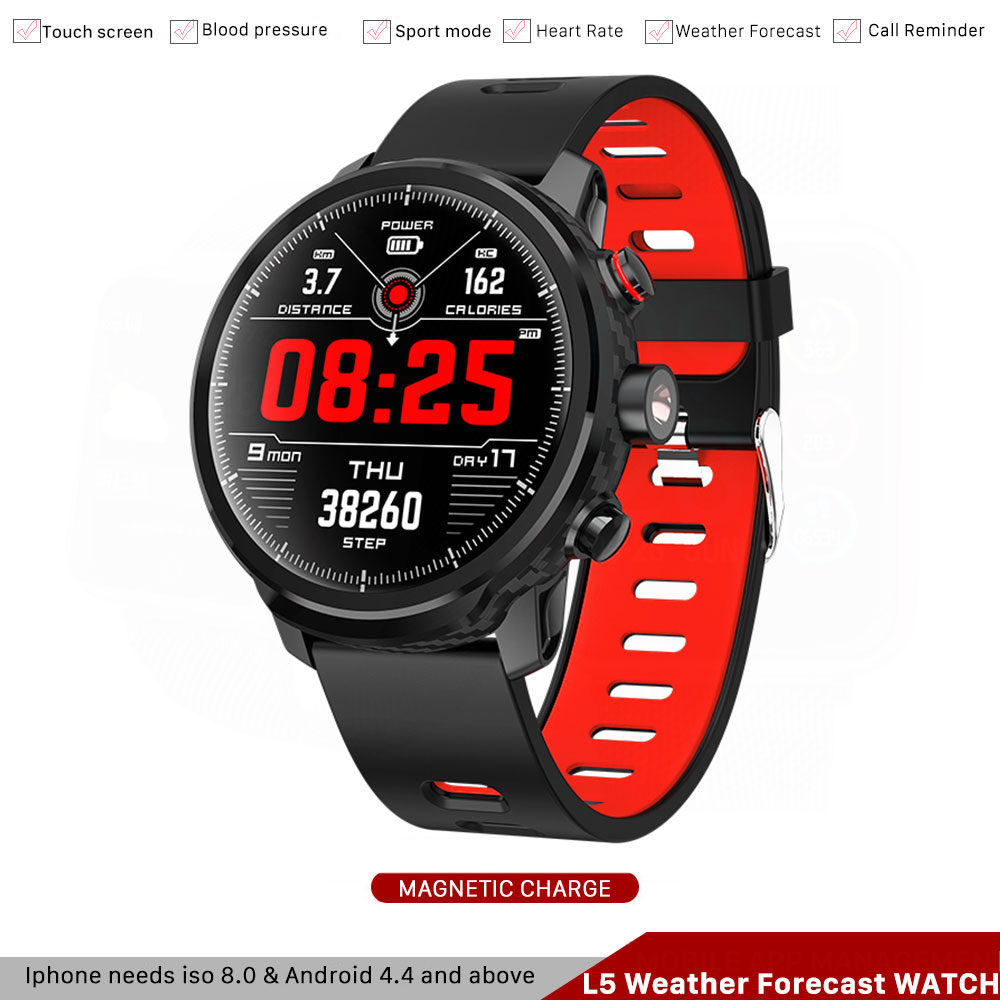 <font><b>L5</b></font> <font><b>Smart</b></font> <font><b>Watch</b></font> <font><b>Men</b></font> <font><b>Ip68</b></font> Waterproof <font><b>Smart</b></font> <font><b>Watch</b></font> Bluetooth Android Wristband Call Reminder Heart Rate Pedometer Weather Forecast image