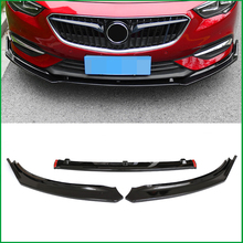 Car Styling For Opel Insignia Grand Sport 2017 2018 Front Bumper Lower Grille Protector Lip Cover Sticker Trim Decorative strip for vauxhall insignia opel insignia second generation 2017 2018 stainless steel outer rear bumper protector plate trim 1pcs