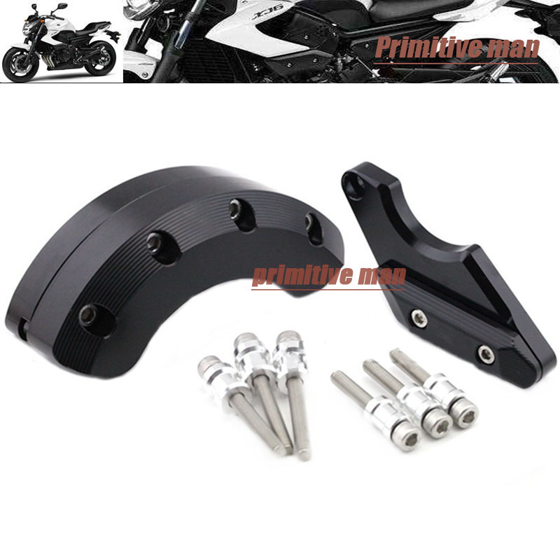ФОТО For YAMAHA XJ6 DIVERSION 2009-2015 FZ-6R 2009-2013 & FZ-6N/S 2004-2009 Left Right Side Engine Case Guard Cover Protector Slider