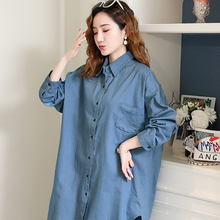 Emotion Moms Loose Maternity clothes Long Breastfeeding Denim Shirt For Pregnant Women Sleeve Nursing Clothing