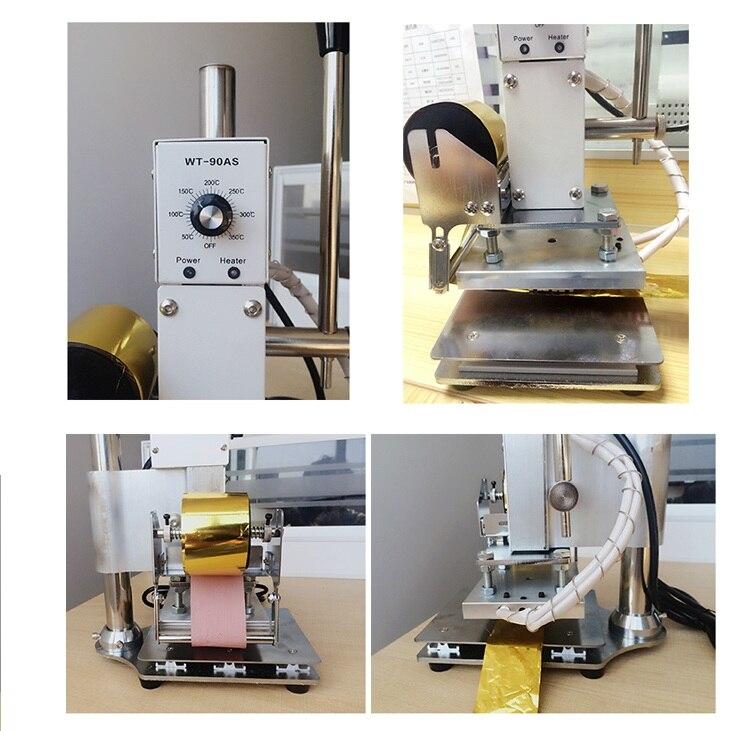 Elektryczna maszyna brajlowska figurka diy gorąca folia tłoczenie maszyna stemplująca skóra tłoczenie drukowanie LOGO znak towarowy marki