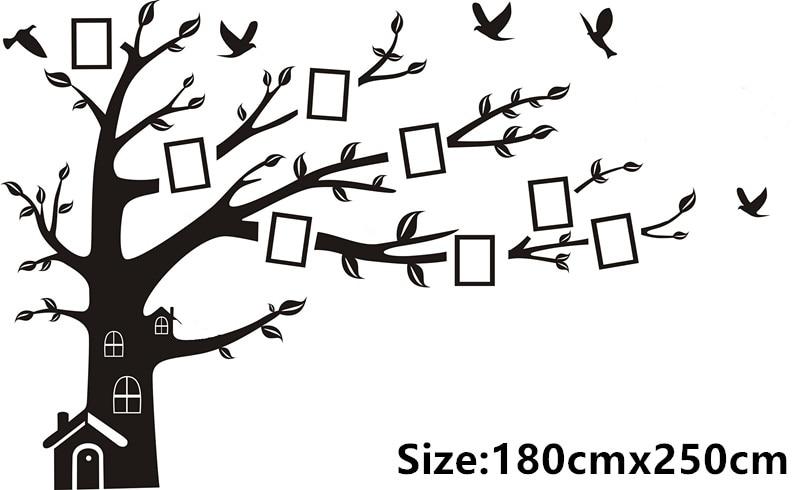 cacar sticker black photo frame tree wall stickers family forever memory tree wall decor decorative adesivo
