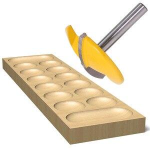 """Image 5 - Broca enrutadora de tazón pequeño, vástago de 6mm, 1 1/2 """"de radio 1 3/4"""", cuchillo de puerta ancha, cortador de carpintería RCT, 1 ud."""