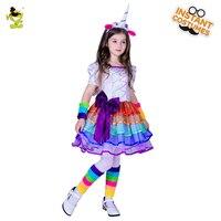 Kid Unicorn Dress For Girl Cartoon Girls Dress Children Clothing Winter Cute Fashion Party Costume