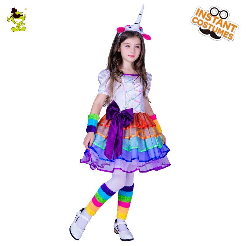 طفل يونيكورن اللباس لفتاة الكرتون - ازياء كرنفال