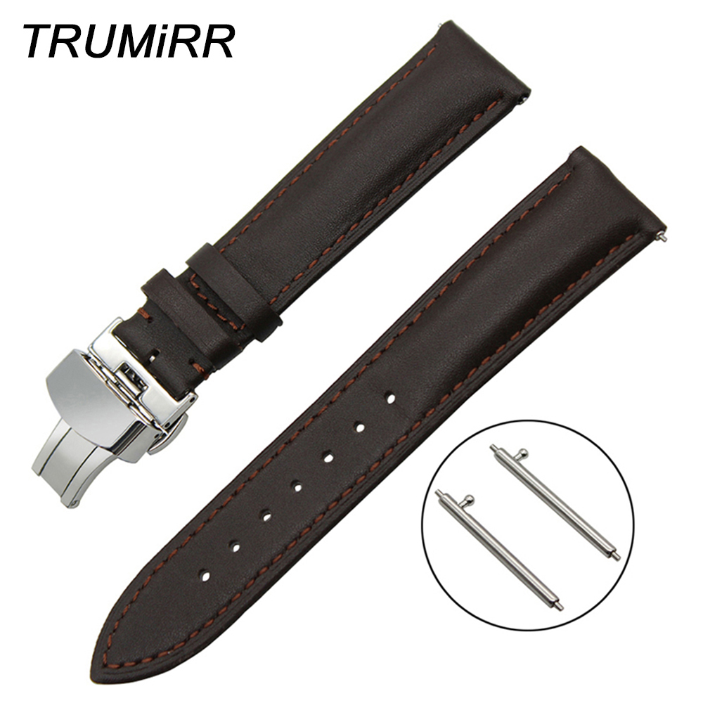 18mm 20mm 22mm Quick Release Watch Band Butterfly Buckle Strap for Time