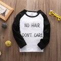 Niño Recién Nacido Bebé Niño Niña Camiseta de Los Niños Del niño de las muchachas Ropa Niños Camiseta de la Letra de Invierno ropa de bebé 1-5 T