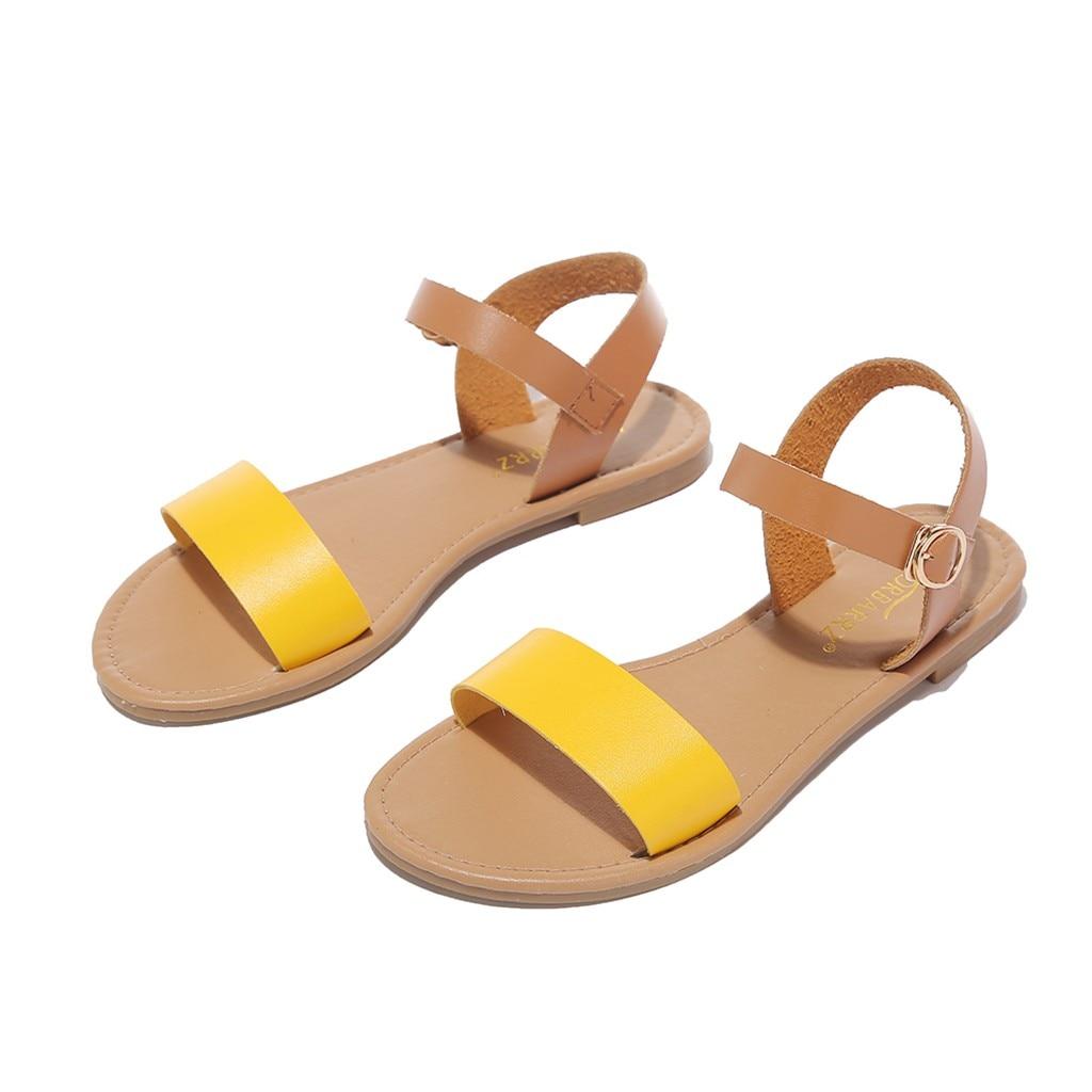 SAGACE Women s Sandals Solid Color PU Leather Sandals Women Fashion Style Flat Summer Women Shoes SAGACE Women's Sandals Solid Color PU Leather Sandals Women Fashion Style Flat Summer Women Shoes Women Shoes 2019 Sandals 41018
