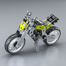 INKPOT 188 PCS Metal Motorcycle Model Building Kits Educational DIY Toys Construction Technic Series Gift For Kid