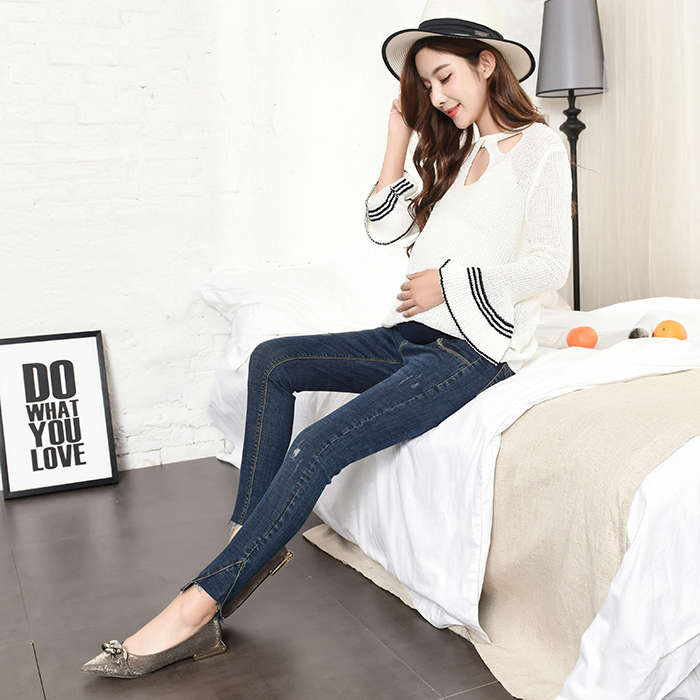 34e56b66dcfa0 781# Stylish Design Stretch Denim Skinny Maternity Jeans Pencil Trousers  Clothes for Pregnant Women Autumn Pregnancy Belly Pants-in Jeans from Mother  & Kids ...