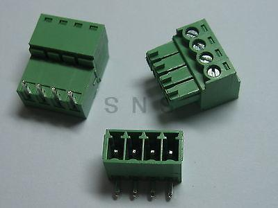 150 pcs Screw Terminal Block Connector 3.81mm Angle 4 pin Green Pluggable Type 150 pcs screw terminal block connector 3 5mm angle 7 pin green pluggable type