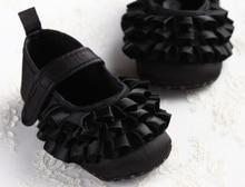 baby shoes girls newborn blk swan satin infant prewalkers little crib Non-slip Footwear christenning wedding