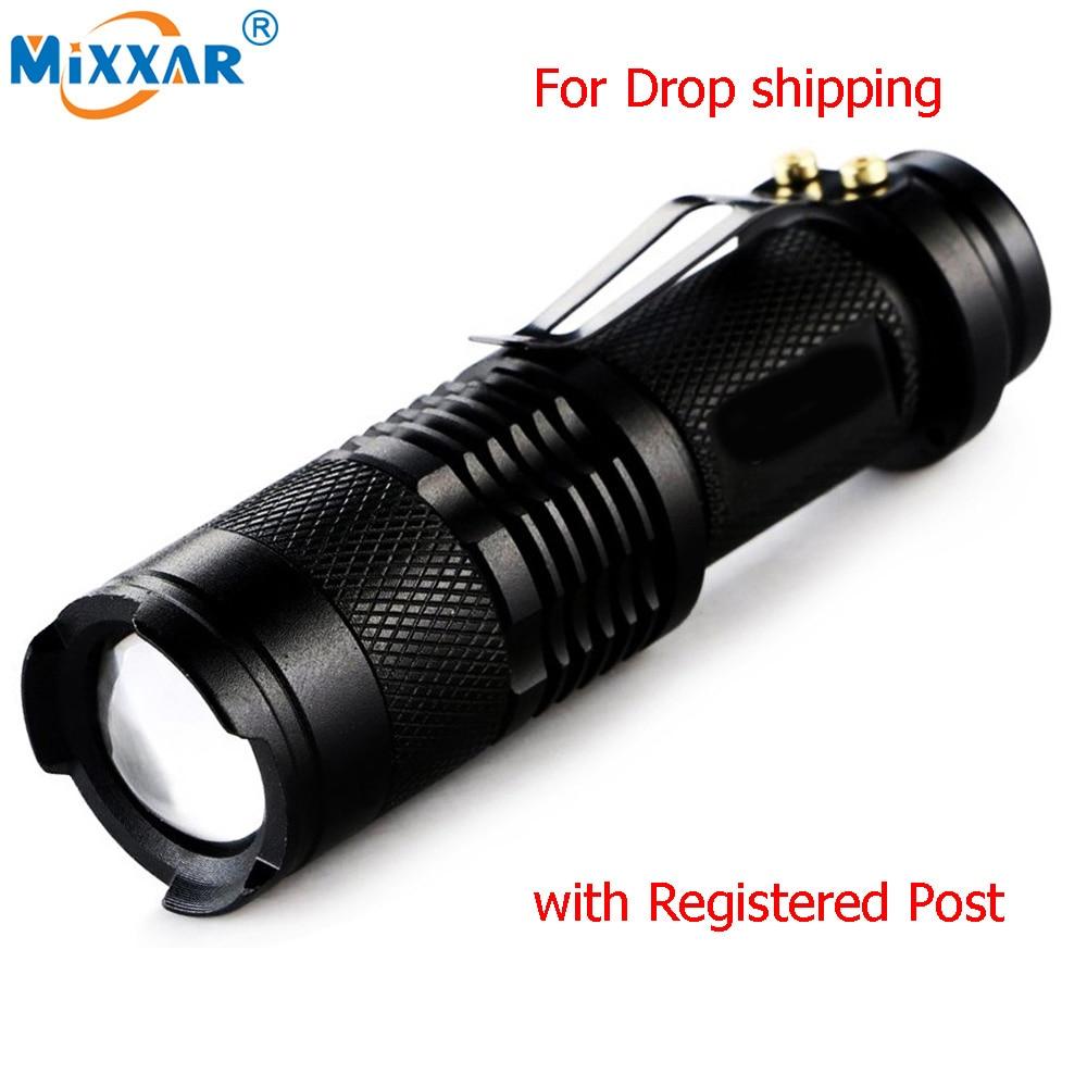 Q5 LED Tactical Flashlight 3000 Lm Bright Torch Lamp Mini Pen Light AAA MT