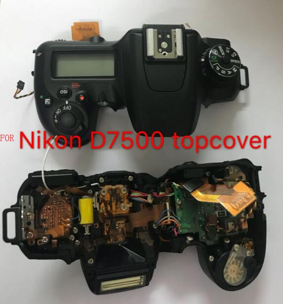 US $108 18 9% OFF NEW Original For Nikon D7500 Top Cover Top Case with  Button Flex Flash Unit Camera Replacement Repair Part-in Camera LCD Screen  from