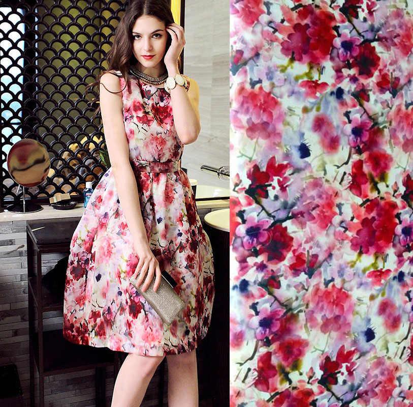New Fashion Super Fashion Designs Silk Satin Strech Pink Plum Printed Fabric Blouse Dresses Silk Fabric By The Meter Wholesale Silk Fabric Meter Designer Silk Fabricsilk Fabric Aliexpress