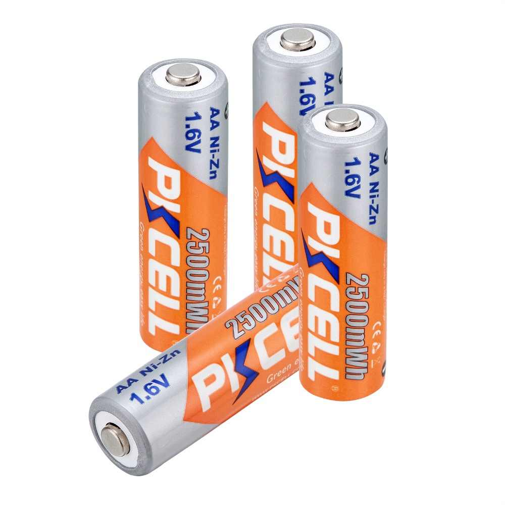 Pile Aa Rechargeable 4x Pkcell Battery Aa Nizn Ni Zn 2500ma 1 6v Piles Rechargeables Aa Rechargeable Battery For Rc Cell Toy