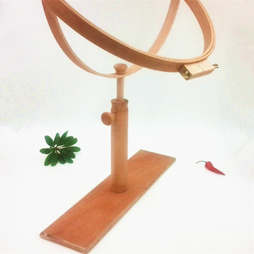 Beech Wooden High Adjustable Standing Desktop Solid  Embroidery Frame Dia 37CM Hoop 360 Rotationable Cross Stitch Rack Kit