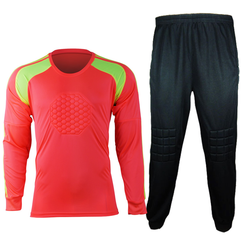 2017 Breathable Quick Dry Men Soccer Training Suits Goalkeeper Jerseys Sets survetement football Shirts Pants Uniforms DIY Print for adult high elastic polyester goalkeeper sets breathable soccer goalie clothing uniforms long sleeve goalkeeper jerseys