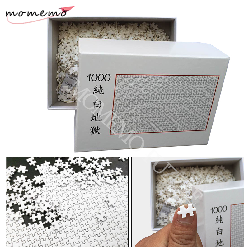 MOMEMO White Hell Jigsaw Puzzles 1000 Pieces Wooden Assembling Puzzles For Adults Puzzle Games Children Kids Educational Toys