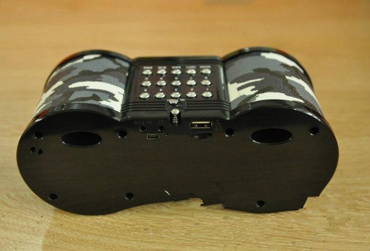 FM Radio USB/TF Carte Haut-Parleur MP3 Musique Lecteur camouflage télescope carte haut-parleur portable audio réglage du son audio d'entrée