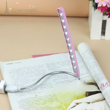 Mini USB LED light lamp 10LEDs flexible variety of colors Portable Bright Book Reading Lamp for Notebook Laptop PC Computer