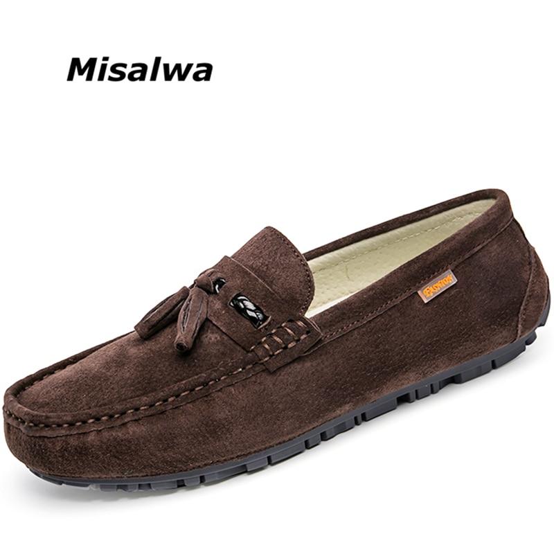 Casuais Camurça khaki Sapatos gray Homens Zapatos Apartamentos Mocassins Black Hombre brown Da Borlas Moda Misalwa w6Fxt5qp