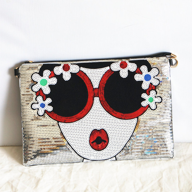 Women's new Bright Character clutch Bag 2