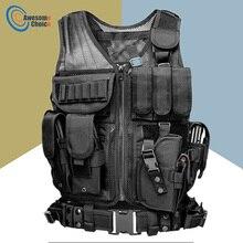 سترة واقية تكتيكية عالية الجودة للتدريب الخارجي على القتال CS سترة حماية ميدانية لفريق لعبة كرة الطلاء SWAT