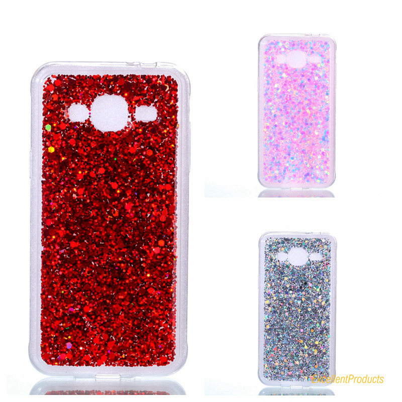 2017 2 In 1 New Fashion Design Gleam Blink Women Phone Case Cover For Samsung J310 <font><b>J3</b></font> <font><b>2016</b></font> Back Shell Para Fundas image