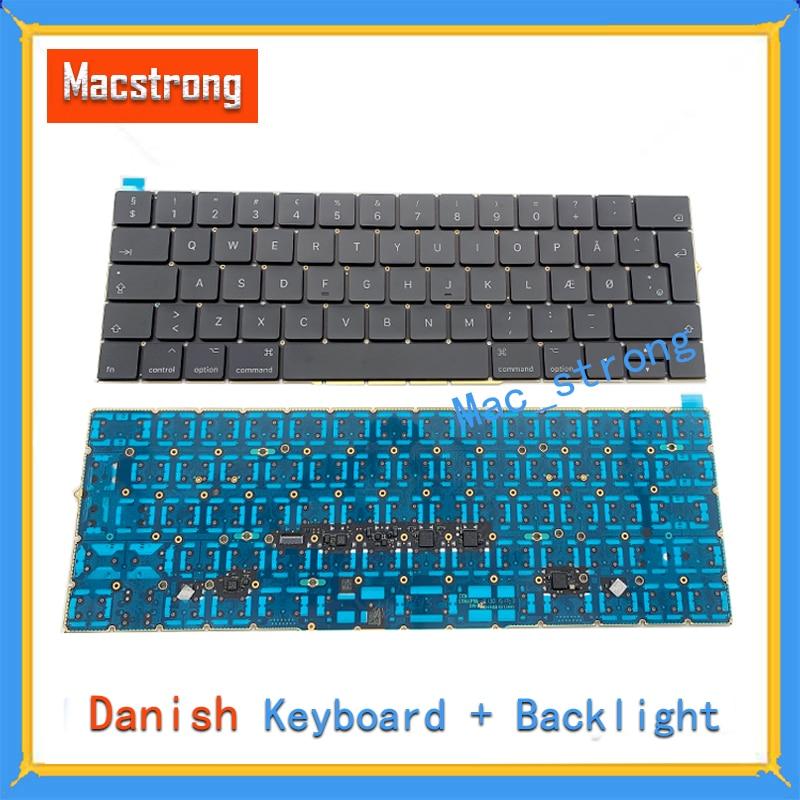 Brand New Original 13 A1706 A1708 Denmark Keyboard For font b Macbook b font Pro Retina