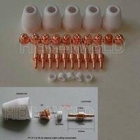 PT 31 LG 40 Air Plasma Cutter Cutting Torch Consumables KIT Plasma Nozzles TIPS Fit Cut