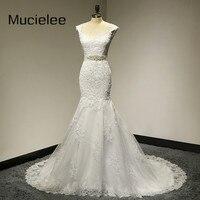 Vestido De Noiva 2014 Lace Wedding Dress With Sashes Elegant Mermaid Wedding Dresses 2014 Bridal Dresses