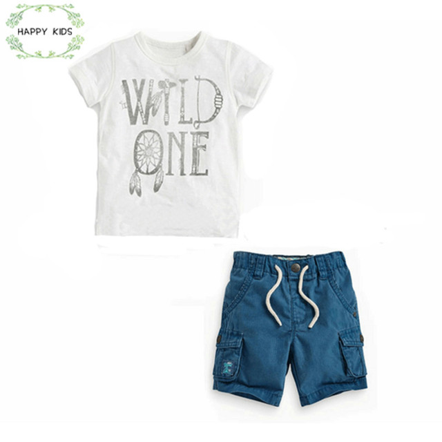 79b75149 DTZ316 Fashion New Collection summer Baby Boy Clothes Set Tide Boy t-shirt  + Shorts