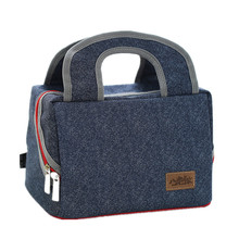 Denim Beer Handbag Cooler Bag Kid Picnic Bento Box Insulated Pack Drink Food Thermal Ice Leisure Lunch bag Accessories Stuff