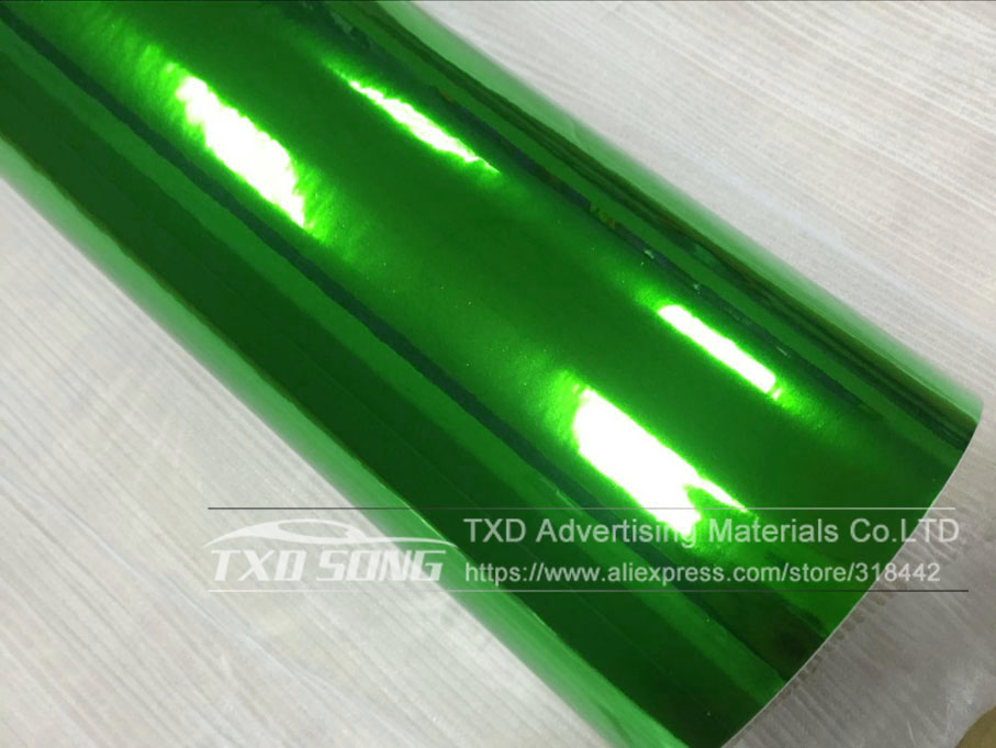 Image 3 - 50CM*100/200/300/400/500CM New Size High stretchable green silver Chrome Mirror flexible Vinyl Wrap Sheet Roll Film Car Vinyl-in Car Stickers from Automobiles & Motorcycles