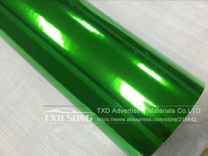 Image 3 - 50CM * 100/200/300/400/500CM 새로운 크기 높은 stretchable 녹색 실버 크롬 미러 유연한 비닐 랩 시트 롤 필름 자동차 비닐