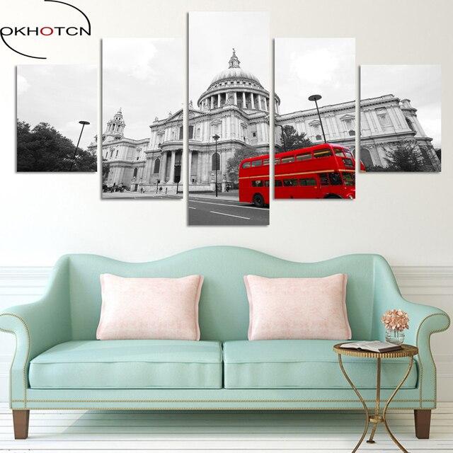 OKHOTCN London City Street View Modern Wall Murals Posters Canvas