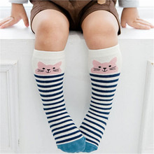 Newborn Kids Girl Boy Animal Pattern Anti-slip Knee High Sock Baby Socks fox Cat Cotton Cute Cartoon infant Toddler