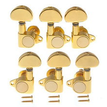 Homeland 6pcs/set Gold Chrome 3L 3R Guitar Tuning Pegs Guitarra Machine Heads For Acoustic Guitar Accessories Parts