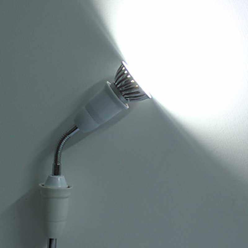 BEYLSION E27 To E27  Length 20CM Flexible Extend Extension Led Light Lamp Corn Bulb Adapter Converter Socket Holder