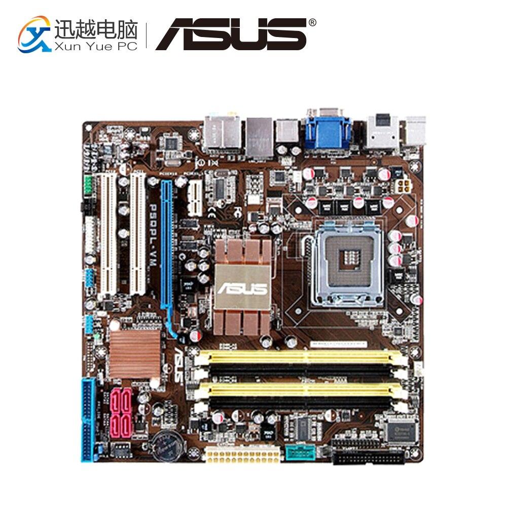 Asus P5QPL-VM Desktop Motherboard G41 Socket LGA 775 DDR2 8G SATA2 USB2.0 uATX asus p5g41 m le original used desktop motherboard g41 socket lga 775 ddr2 8g sata2 usb2 0 uatx
