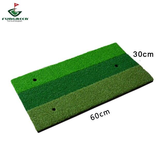 Golf Hitting Mat Indoor Outdoor Practice Golf Mat  60x30cm 3 Color Short Grass Golf Training Aids Golf Hitting Pads