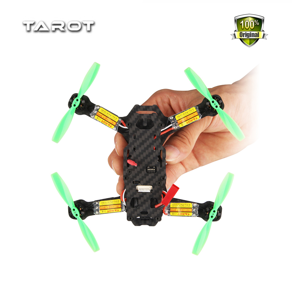 Weyland Tarot TL130H1 Carbon Fiber Frame Mini Racing Drone Alien Racing 130 Quadcopter with Flight Controller Motor ESC Prop FPV carbon fiber mini 250 rc quadcopter frame mt1806 2280kv brushless motor for drone helicopter remote control